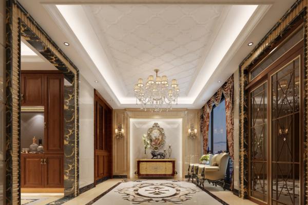 155平米歐式客廳過道裝修效果圖
