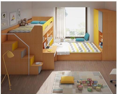 8平米臥室榻榻米上下床裝修效果圖