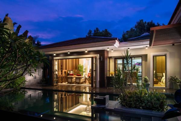 800平簡歐風格斜頂房屋設計效果圖