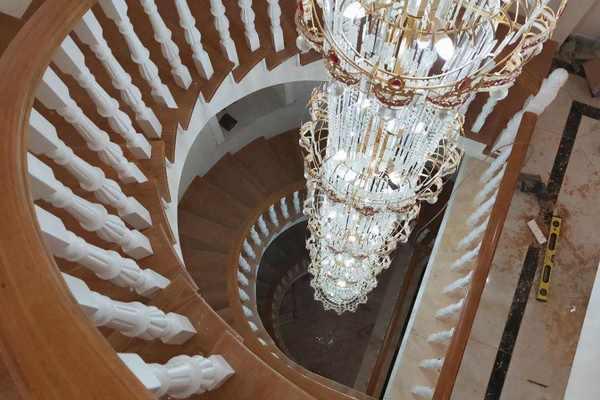 歐式風格別墅樓梯井裝修效果圖