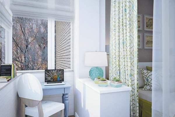 100平米现代风格两室两厅客厅阳台隔断柜装修效果图