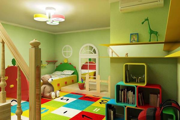 二居室田園風格兒童臥室裝修效果圖