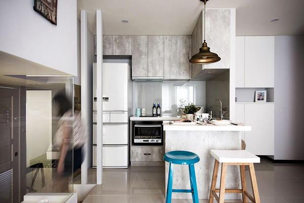 现代美式风格错层住宅室内装修效果图