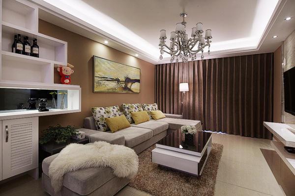 116平米簡歐風格兩室兩廳室內裝修效果圖賞析