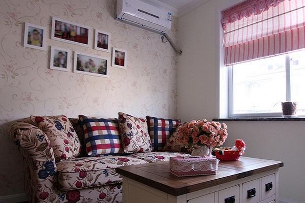 美式田园风格精致两室两厅室内装修效果图