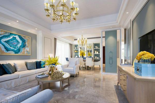 157平米简欧风格精美大户型室内装修效果图