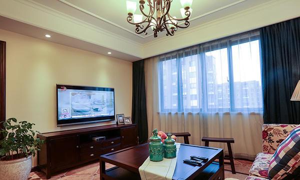 97平米复古美式风格两室两厅室内装修效果图