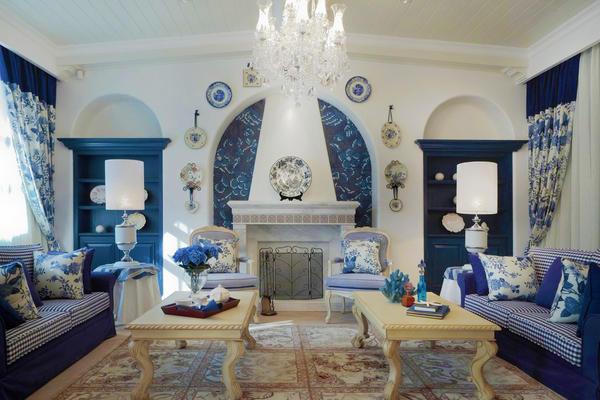 地中海風格精致客廳背景墻裝修效果圖賞析