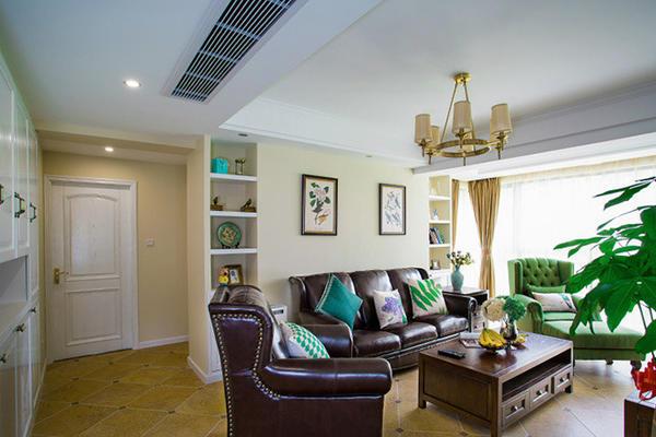 134平米美式风格精美三室两厅室内装修效果图案例