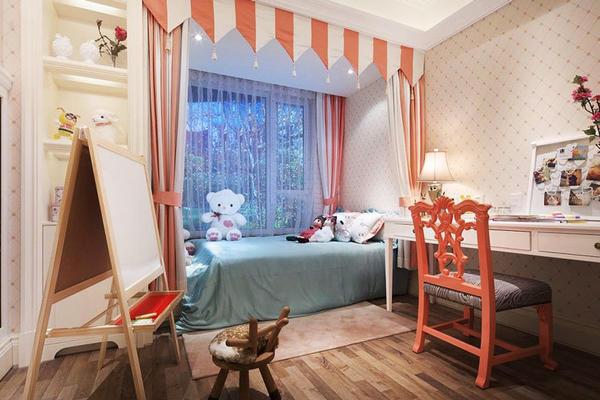 簡歐風格精美溫馨兒童房裝修效果圖賞析