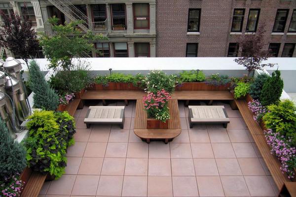 專為自建別墅設計的露臺花園設計裝修效果圖