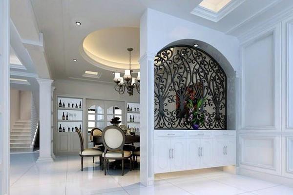 现代美式风格大户型精致室内餐厅隔断装修效果图