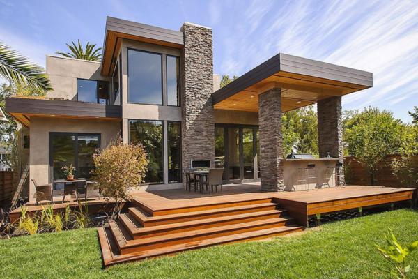 現代美式風格裝修別墅外觀設計效果圖