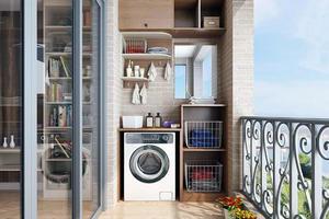 阳台柜用什么材料好 阳台洗衣机柜怎么安装