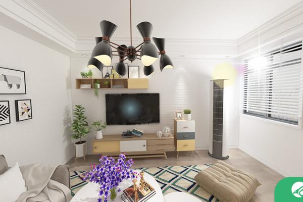 六安简约风格两居室装修效果图