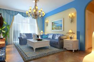 地中海风格窗帘装修图片大全 地中海风格窗帘装修效果图大全