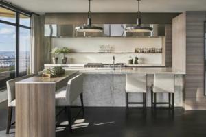 2020款开放式厨房装修效果图 开放式厨房装修设计图