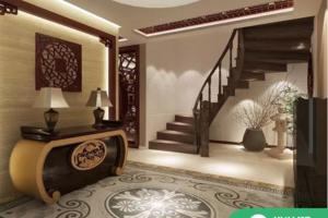 340平方中式别墅,原木韵味,大气沉稳——烟台阔达装饰案例